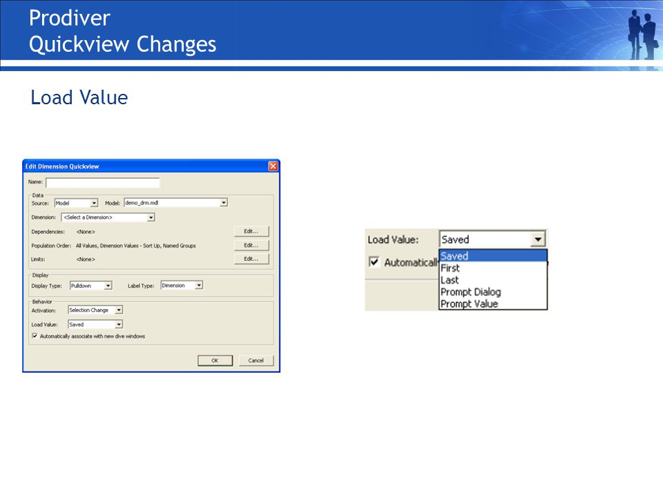Prodiver Quickview Changes Load Value