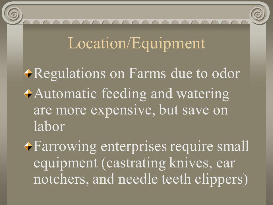 Equipment Needle teeth clippers http://www.ritcheytagg.com /farrowing3.html Ear notcher http://www.nationalband.