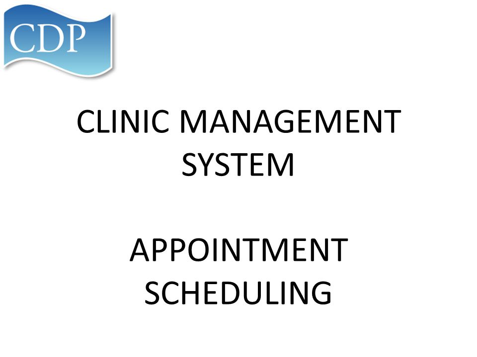 You will then have the screen to schedule the appointment.