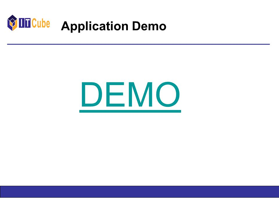 Application Demo DEMO