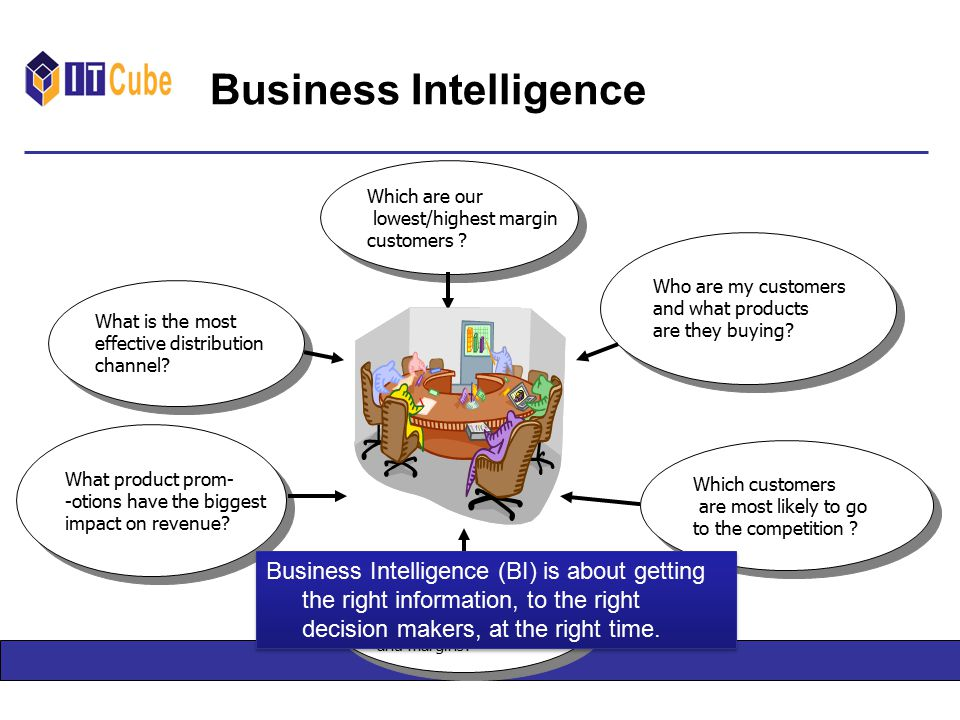 Business Intelligence Which are our lowest/highest margin customers .
