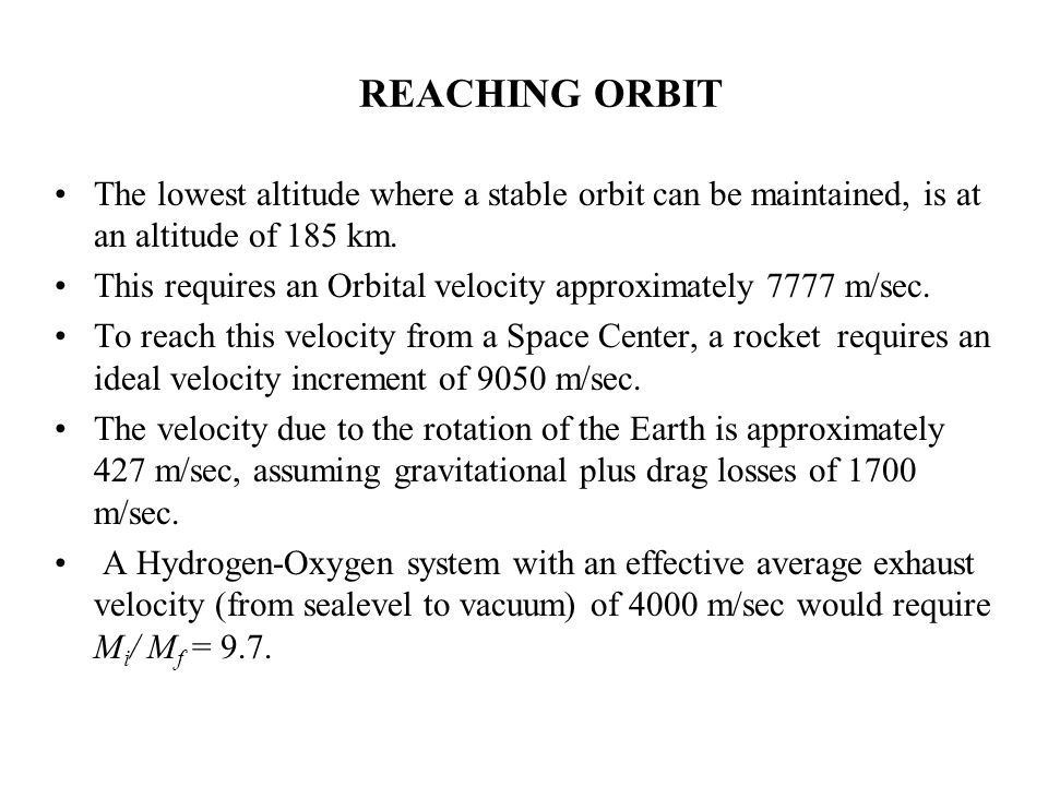 For a typical launch vehicle headed to an orbit, aerodynamic drag losses are typically quite small, on the order of 100 to 500 m/sec. Gravitational lo