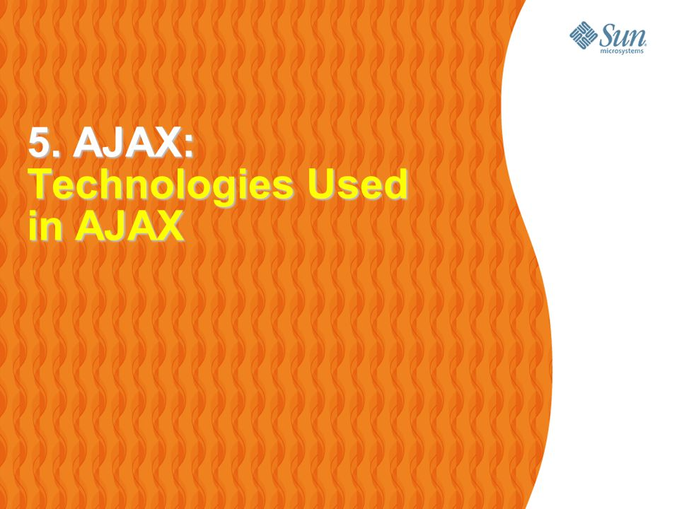 30 Technologies Used In AJAX Javascript > Loosely typed scripting language > JavaScript function is called when an event in a page occurs > Glue for the whole AJAX operation DOM > Represents the structure of XML and HTML documents > API for accessing and manipulating structured documents CSS > Allows for a clear separation of the presentation style from the content and may be changed programmatically by JavaScript XMLHttpRequest > JavaScript object that performs asynchronous interaction with the server