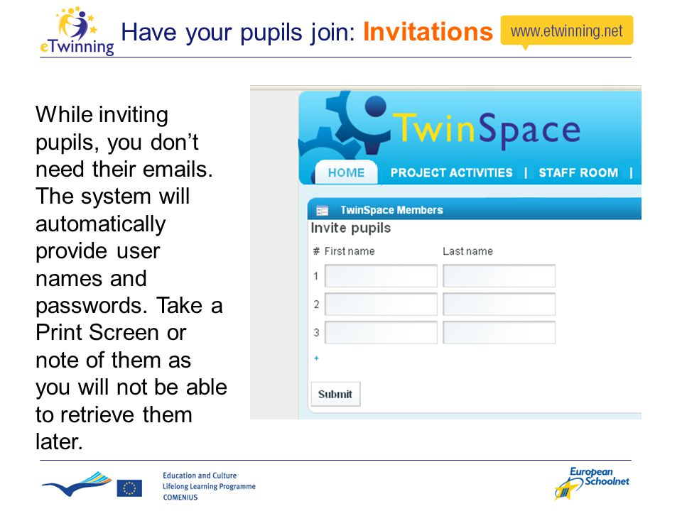 Have your pupils join: Invitations While inviting pupils, you don't need their emails.