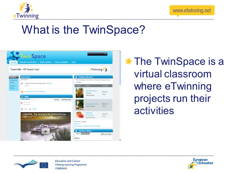 How do I access the TwinSpace.