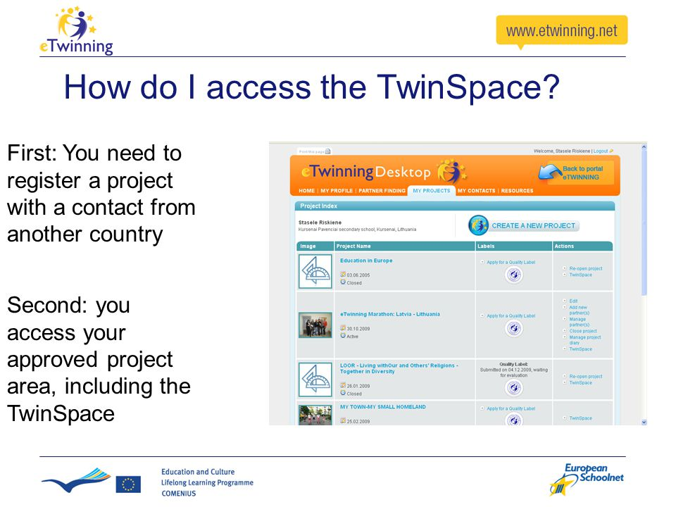This is Your TwinSpace Homepage