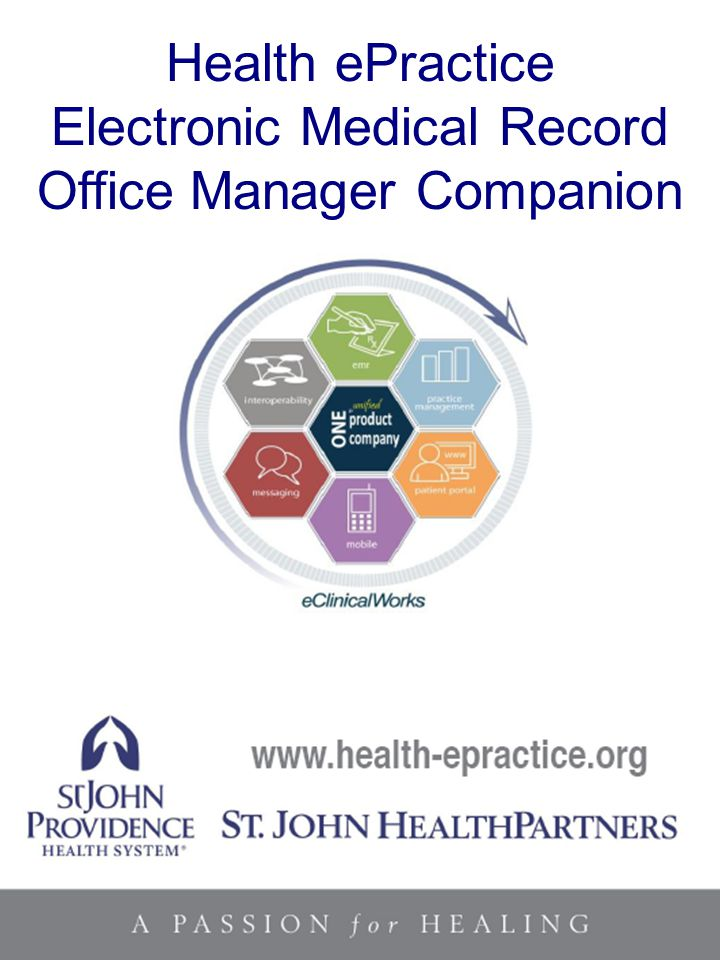 Health ePractice Electronic Medical Record Office Manager Companion