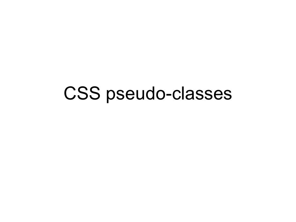 CSS pseudo-classes