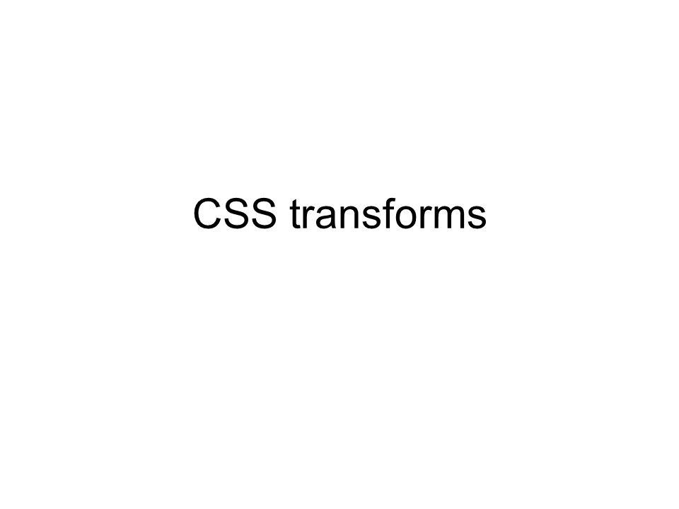 CSS transforms
