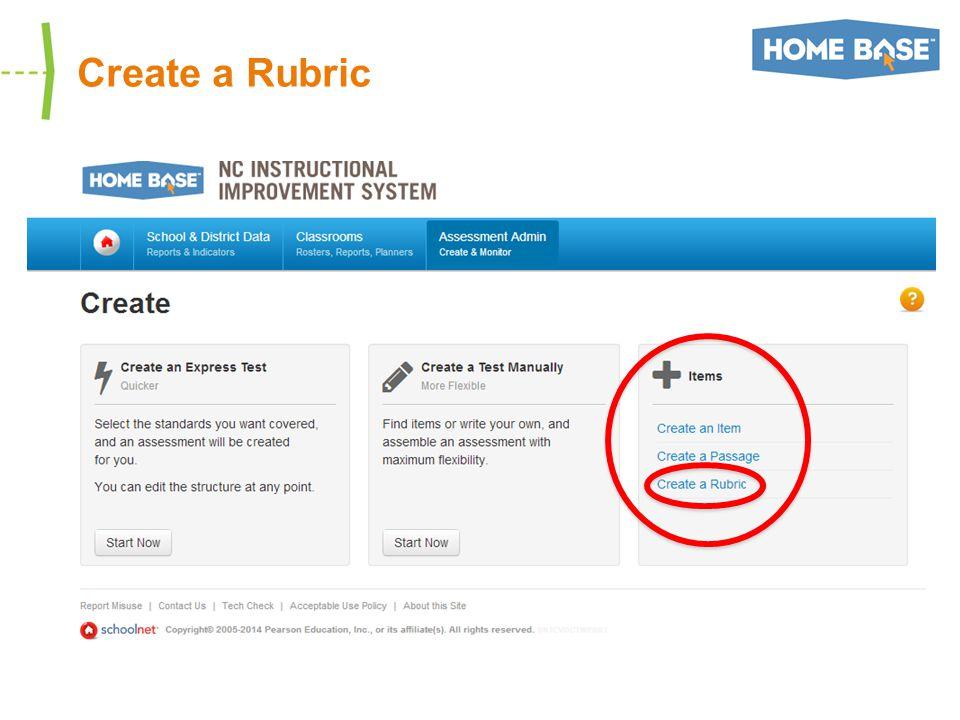 Create a Rubric