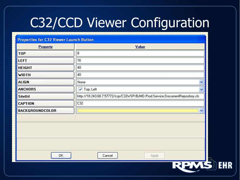 C32/CCD Viewer Configuration