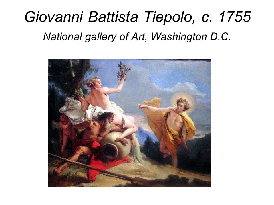 Giovanni Battista Tiepolo, c. 1755 National gallery of Art, Washington D.C.