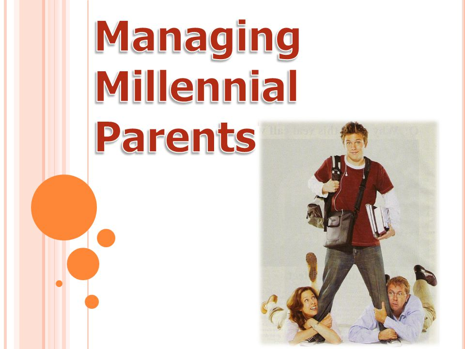 T HE S HIFT FROM B OOMER TO G EN X' ER P ARENTS In 2010, the youngest Baby Boomers turn 50, & majority of Millennial parents will become Gen X'ers We will see a dramatic shift in the mind-set of Millennial parents Millennials born in the 1980's mostly have Boomer parents Millennials born in the 1990's mostly have Generation X parents Transition between Boomer and Generation X will be more dynamic than most expect This transition could cause higher education to experience institutional shifts unlike any seen before Source: Millennials Go to College Neil Howe and William Strauss (2007)