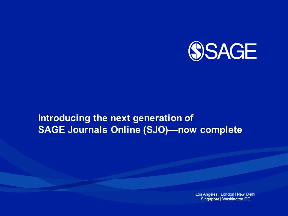 Why SAGE migrated to the next generation of SJO.