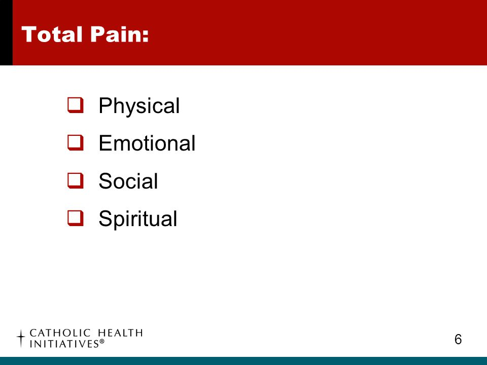 Importance of Controlling Pain: Inadequately managed pain can lead to adverse physical and psychological patient outcomes for individual patients and their families.
