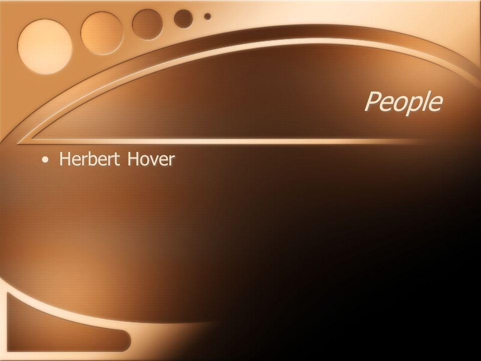 People Herbert Hover