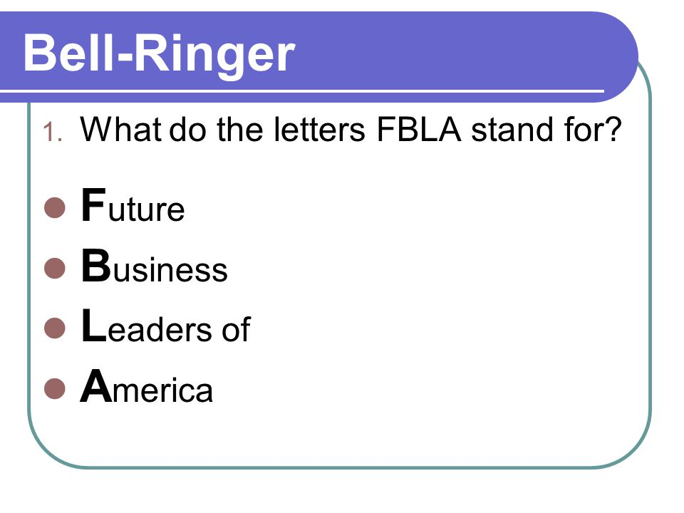 Hover your mouse over FBLA – Middle & High School to see the menu
