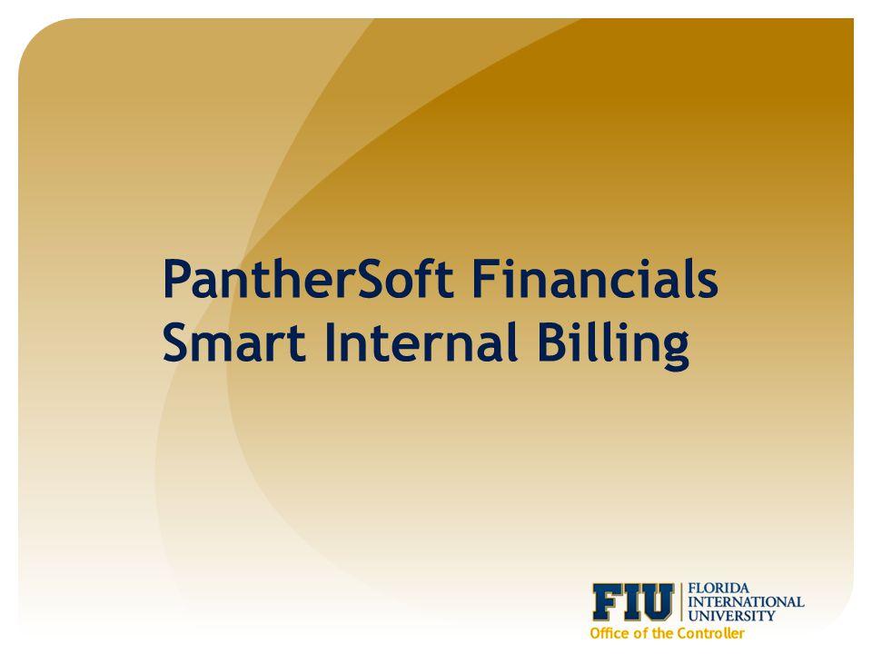 PantherSoft Financials Smart Internal Billing