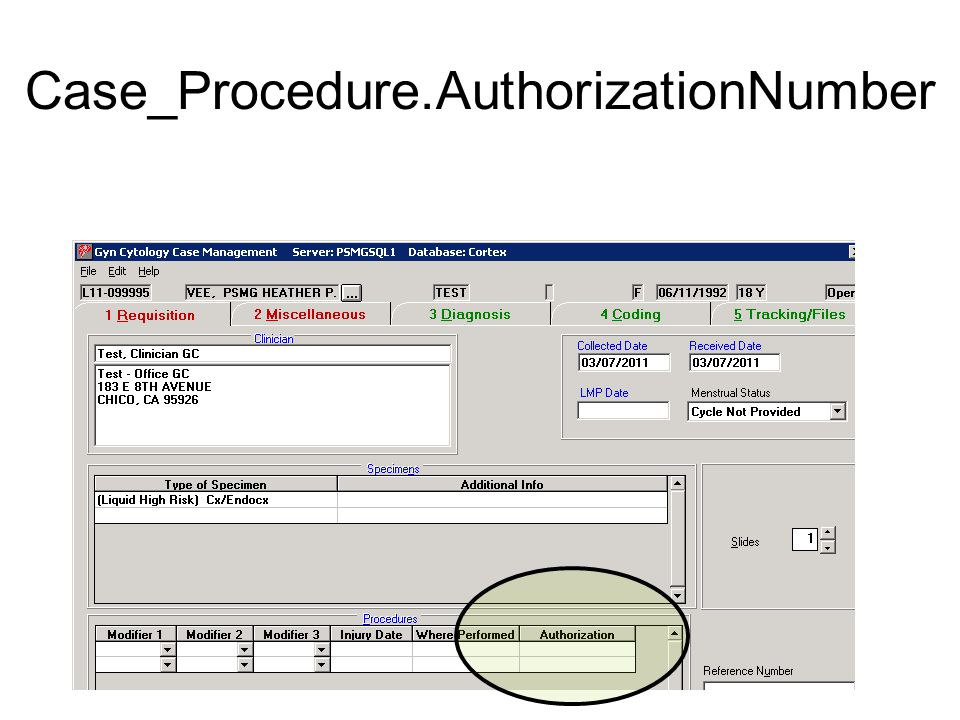 Case_Procedure.AuthorizationNumber