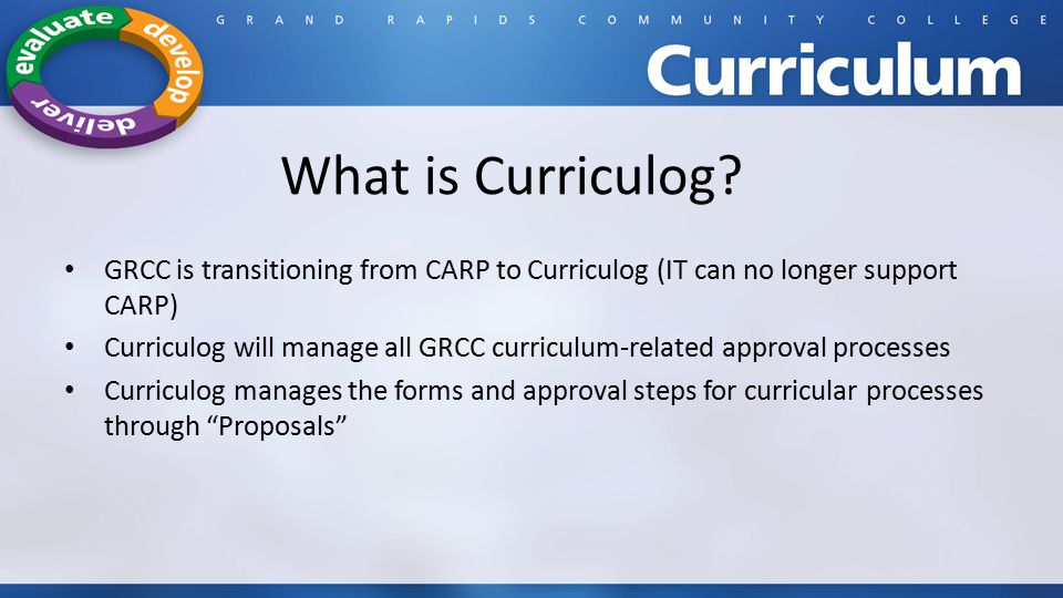 What is Curriculog.