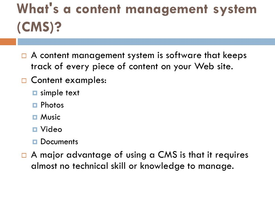 What s a content management system (CMS).