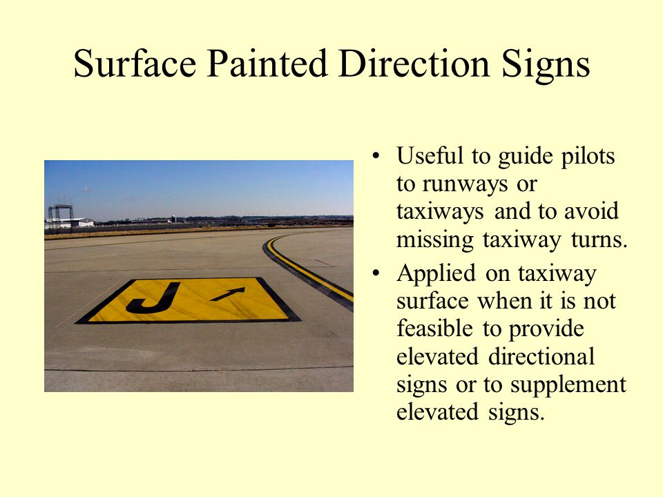 Surface Painted Holding Position Used where pilots had difficulty discerning the location of the holding position and to supplement signs located at h