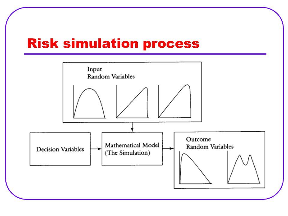 Risk simulation process