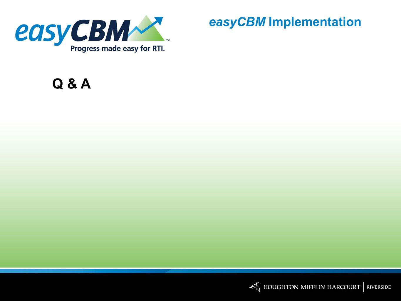 easyCBM Implementation Q & A