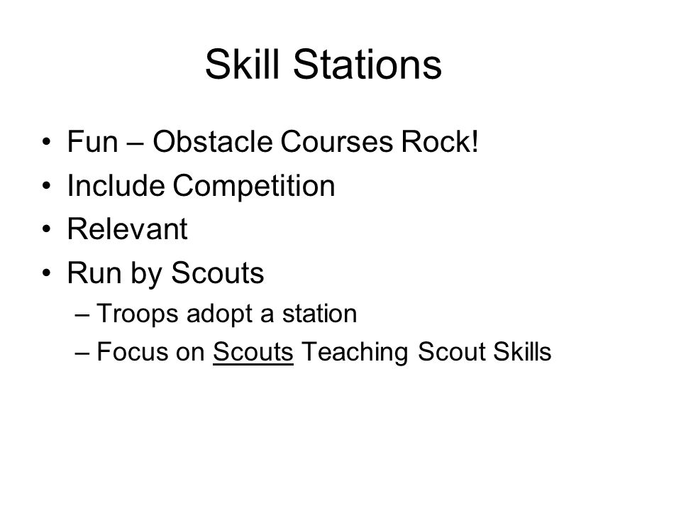 Skill Stations Fun – Obstacle Courses Rock.