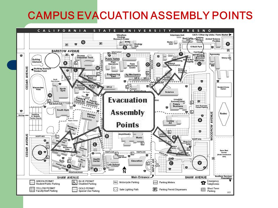 CAMPUS EVACUATION ASSEMBLY POINTS