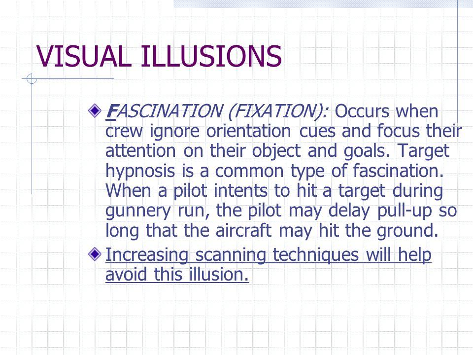 VISUAL ILLUSIONS FLICKER VERTIGO: A light flickering at a rate of 4 to 20 cycles per sec.