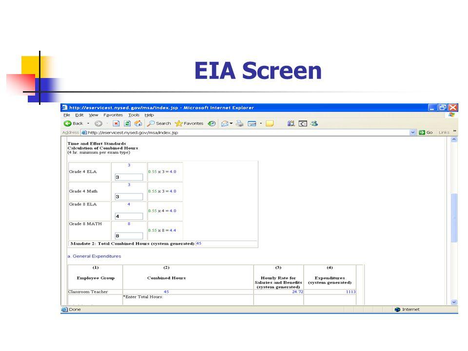 EIA Screen