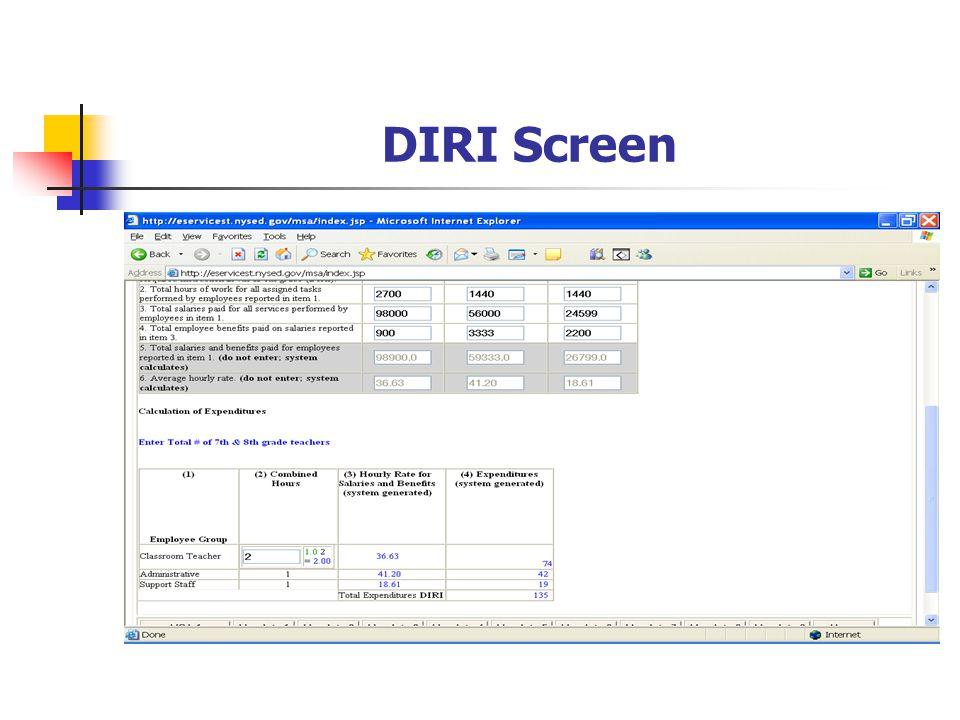DIRI Screen