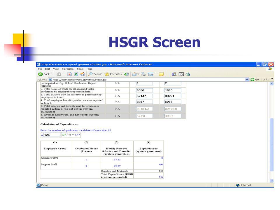 HSGR Screen