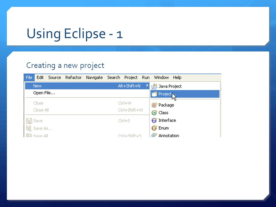 Using Subclipse - 5 To share a project: