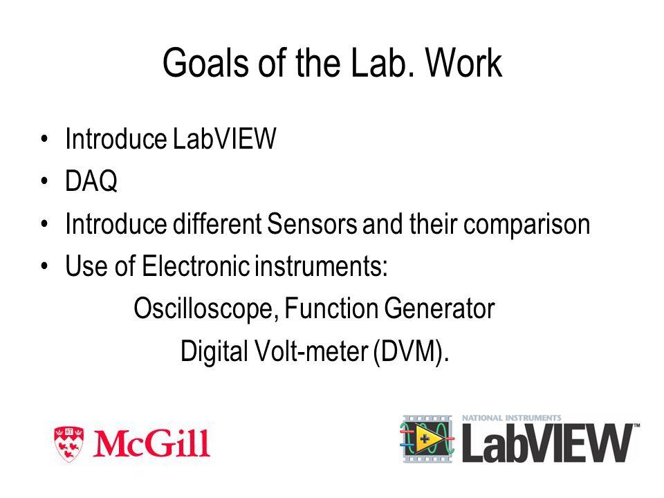 Goals of the Lab.