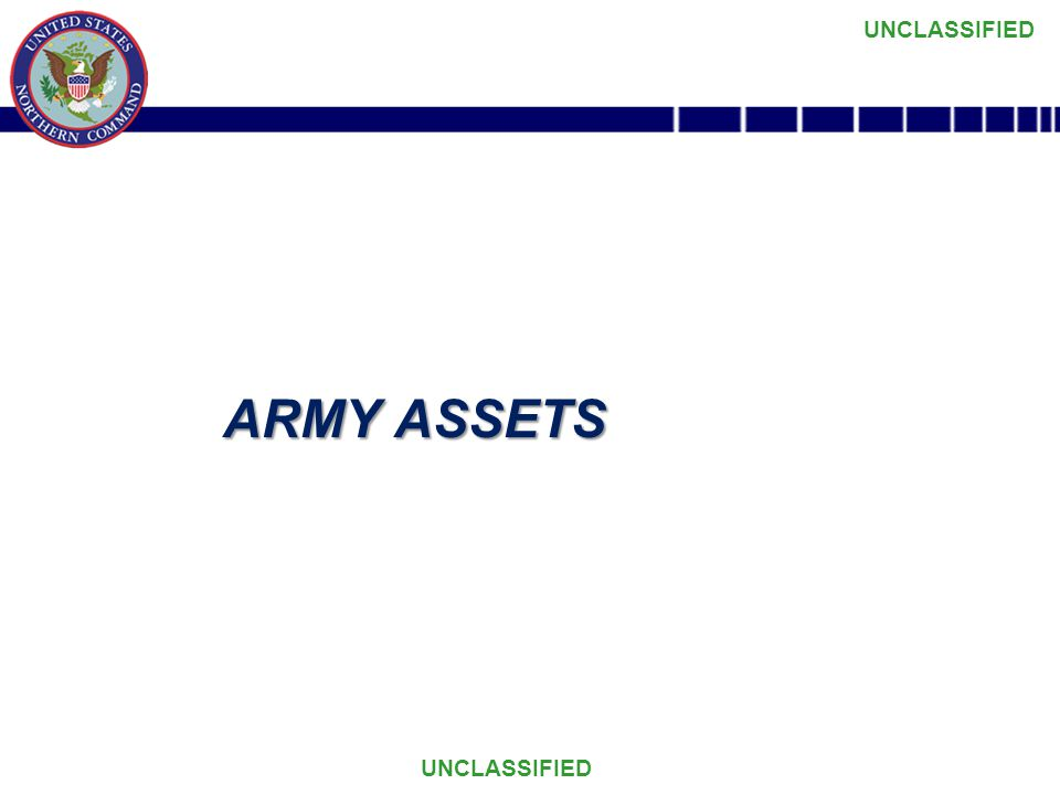 UNCLASSIFIED ARMY ASSETS
