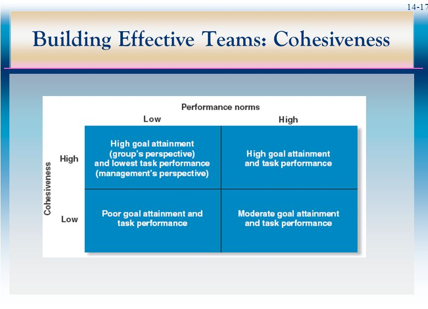 14-17 Building Effective Teams: Cohesiveness
