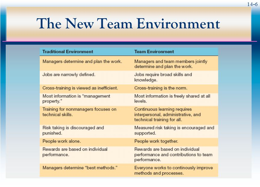 14-6 The New Team Environment