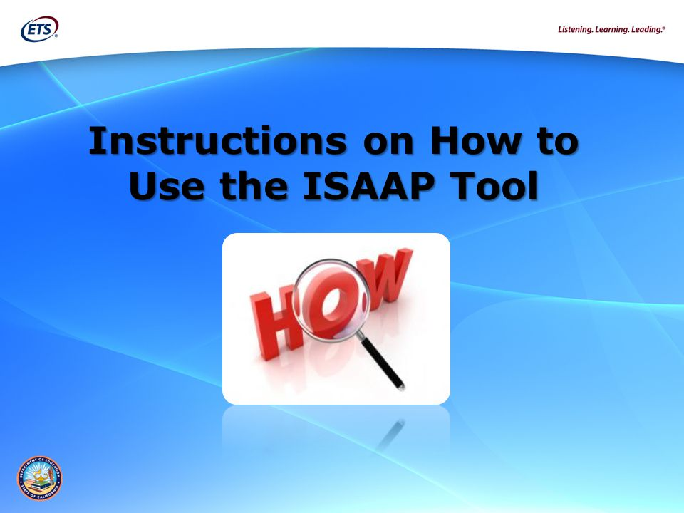 Instructions on How to Use the ISAAP Tool