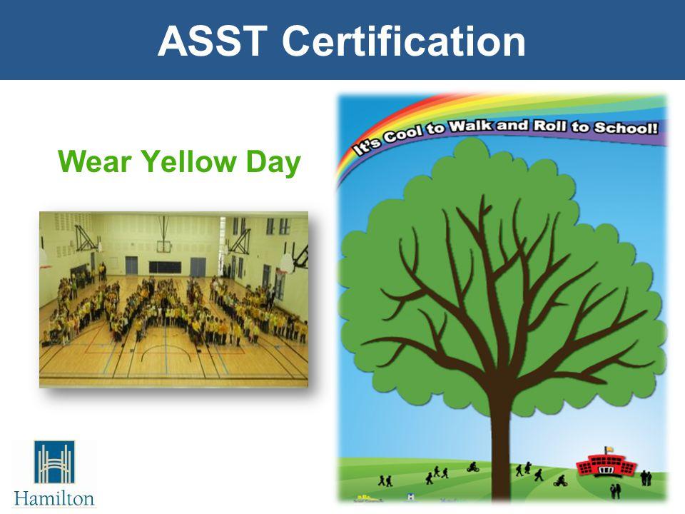 Wear Yellow Day ASST Certification