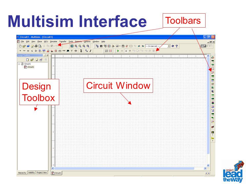 Multisim Interface Circuit Window Design Toolbox Toolbars