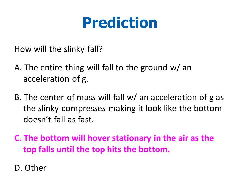 © 2010 Pearson Education, Inc.How will the slinky fall.