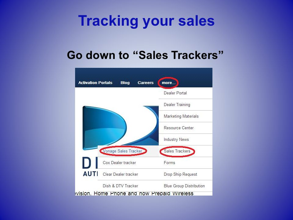 "Go down to ""Sales Trackers"" Tracking your sales"