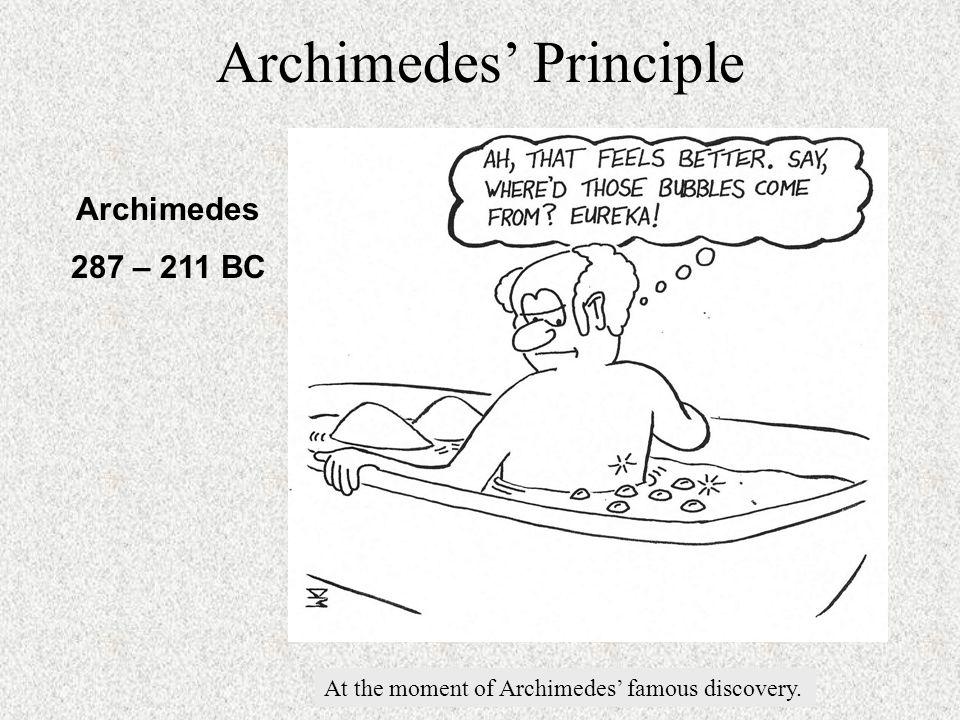 Archimedes' Principle Cartoon here .