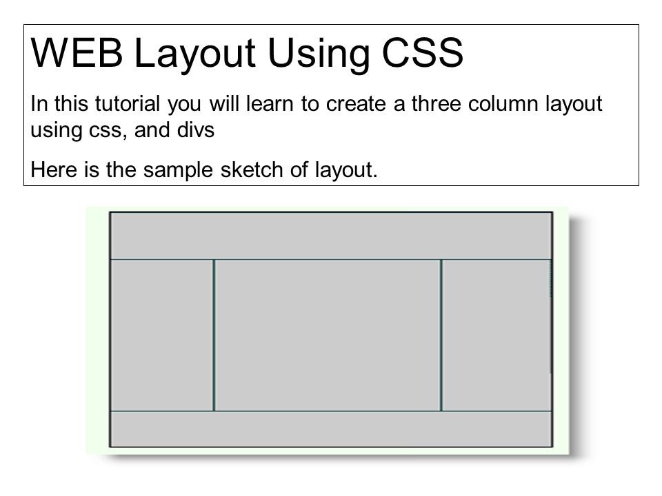 1.First of all we need to create a container for page contents.