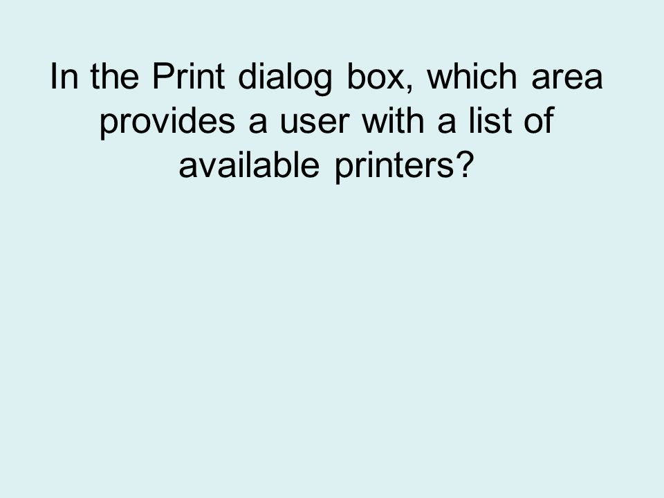 Printer Status button
