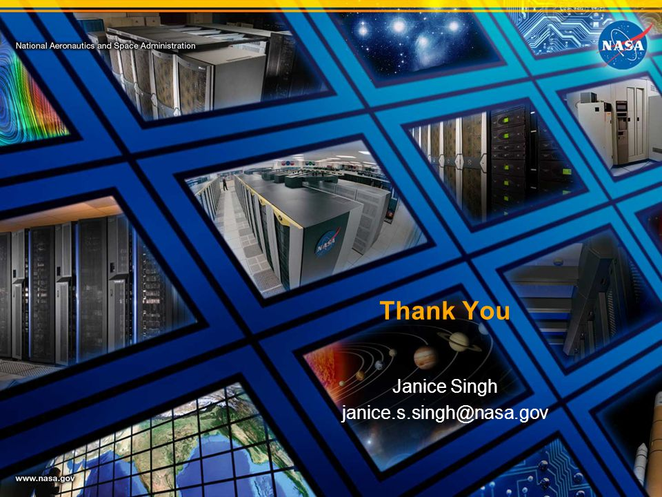 Thank You Janice Singh janice.s.singh@nasa.gov