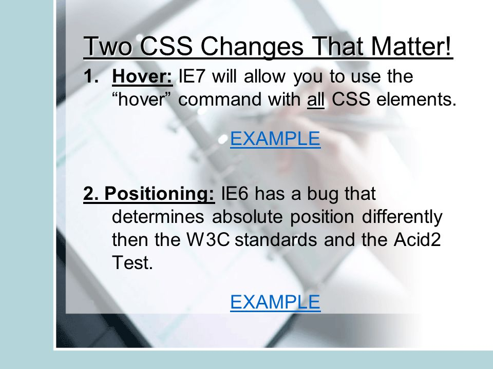Two CSS Changes That Matter.