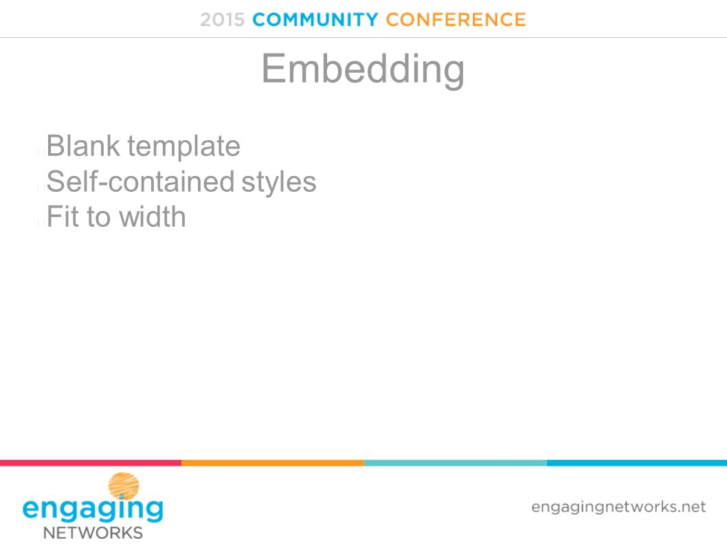 Embedding Blank template Self-contained styles Fit to width